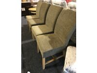 Four never used fabric chairs