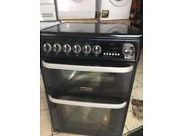 Cannon black Ceramic electric Cooker 60cm like new worth £460 with Warranty