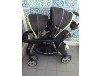 Graco Twin/double Pram, With Standing Board, Used But in great condition
