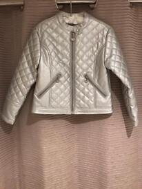 Ariana Dee silver jacket Age 8/128cm Excellent condition.