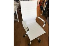 High Back Swivel Office Chair - White