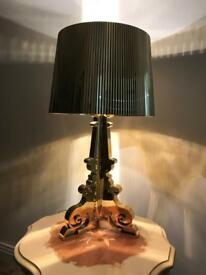 Kartell Bourgie table lamp in metallic gold
