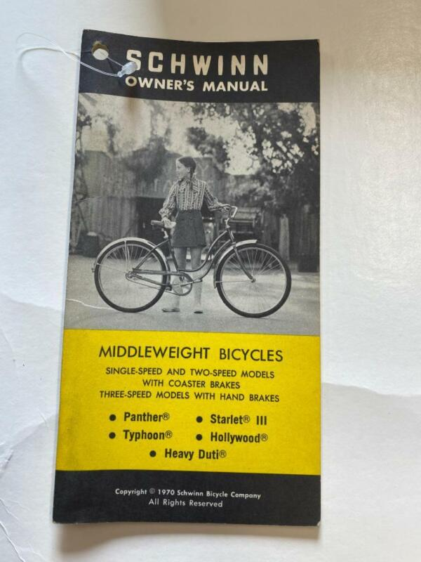 1970 Schwinn Middleweight Bicycles MANY MODELS Bicycle OWNERS MANUAL