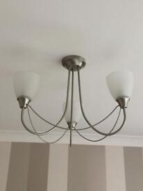3 light silver Chandelier