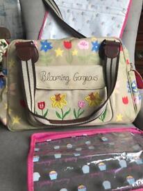Pink Lining Blooming Gorgeous change bag