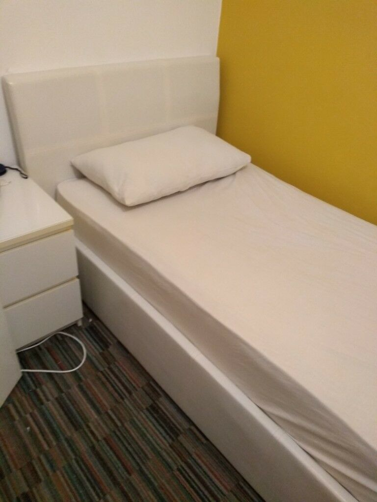 Excellent Beautiful White Faux Leather Ottoman Single Gas Lift Bed With Mattress Fabulous Condition 80 Ono In Oldham Manchester Gumtree Caraccident5 Cool Chair Designs And Ideas Caraccident5Info