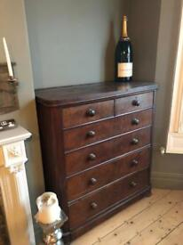 Large chest of victorian draws