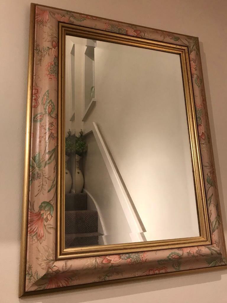 dc12677f98b Bevelled framed mirror. Cwmbran