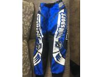 """KIDS WULFSPORT MOTO X TROUSERS SIZE 26"""" (ABOUT 5-8 YEARS DEPENDING ON SIZE) NEARLY NEW CONDITION"""