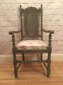Victorian oak vintage carver chair. Antique Annie Sloan