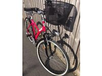 B Twin Pink Women bicycle with gel seat and basket, 1,5 years old, HARDLY USED, Like a NEW!