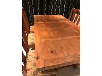 Mexican Pine Dining Table & Chairs