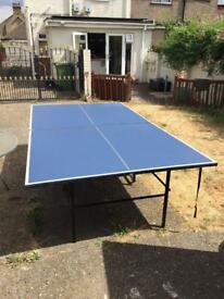Full size table tennis table no net