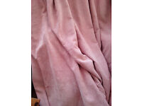 Large (90x90) lined dusky pink curtains