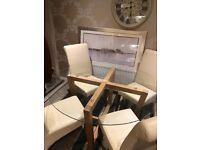 Circular Glass and wood Dining Table
