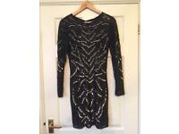 Miss Selfridge Sequin Mini Dress Size 10