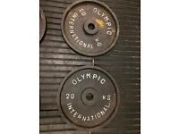 4x 20kg Olympic plates