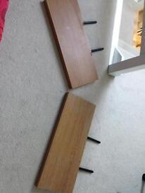 2 beech effect floating shelves