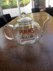 Pimm's winter glass teapot