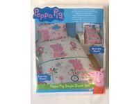 Single Size Peppa Pig Reversible Duvet Set