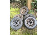 Vw t2 original wheels 5x