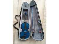 Stentor 3/4 Violin Blue with case in good condition