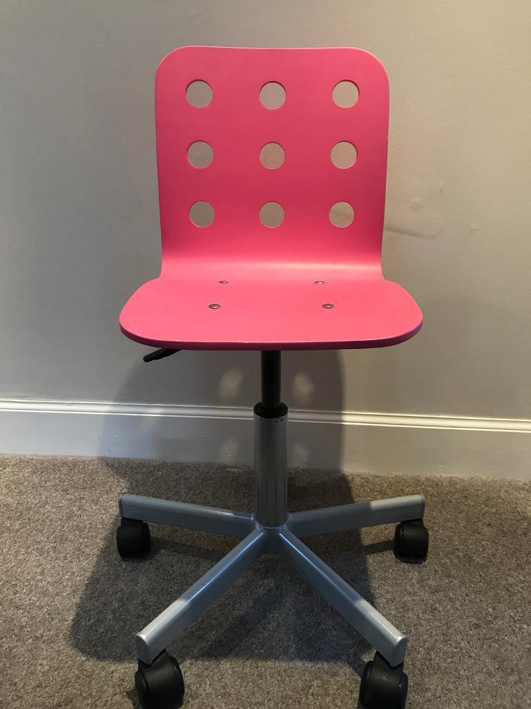 Tremendous Ikea Jules Kids Desk Chair Pink In Newton Mearns Glasgow Gumtree Theyellowbook Wood Chair Design Ideas Theyellowbookinfo