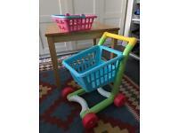 ELC shopping cart + basket
