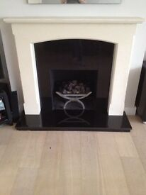 Natural Stone Gas Fireplace