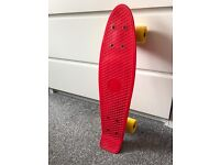 Red and Yellow Penny Board NEW