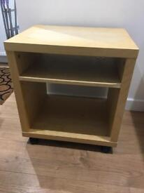 IKEA 2-shelf unit on casters. Beech. 2 available.