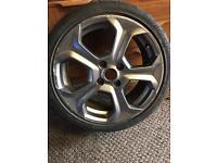 "Mk7 fiesta st alloy with tyre good tread 17"""
