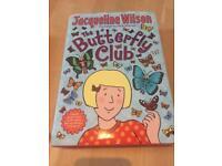 Jaqueline Wilson hardback Butterfly Club book