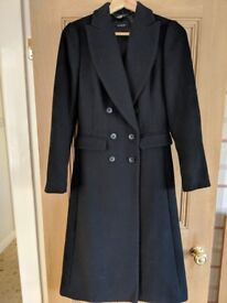 Brand new navy wool coat Marks and Spencer