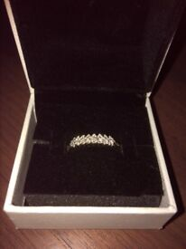Eternity ring 9 ct gold size L