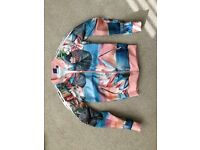 Womens Adidas sport jacket with floral print