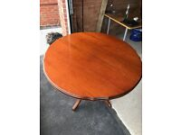 Free Carved Rosewood Extending Antique Dining Table