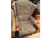 Armchair -free local delivery- wood frame In good condition , feel free to view