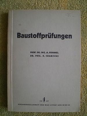 Baustoffprüfungen FB 1946 - Kalk Beton Dachsteine Gips