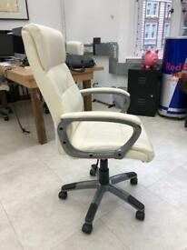 Office chairs in white - 2 available £45