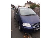 VW SHARAN FOR SALE. BLUE AUTO 1.9TDI FULL SERVICE HISTORY