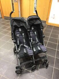 Maclaren twin triumph stroller / pushchair 2017 - black/charcoal