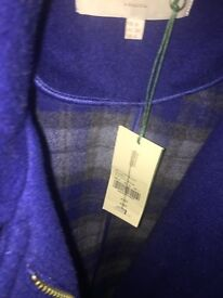 Hobbs Netty duffle Coat- bluebell colour, size 8,