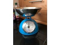 Blue old fashioned scales
