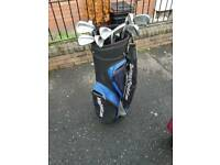 Full set hippo golf irons driver and golf bag
