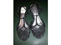 Ladies black sandels... A must for the christmas party season
