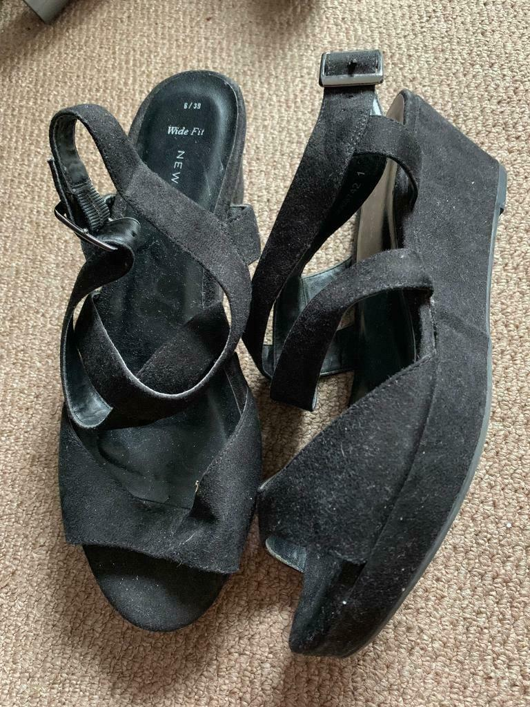 8ecfbfb83cd New look black swede sandal wedges size 6 | in Rushmere St Andrew, Suffolk  | Gumtree