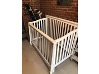 White Wood Cot Bed