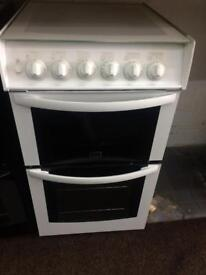 White Parkinson Cowan 50cm gas cooker grill & double ovens good condition with guarantee