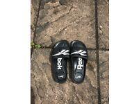 Size 9 Black Reebok Sandals/flip flops